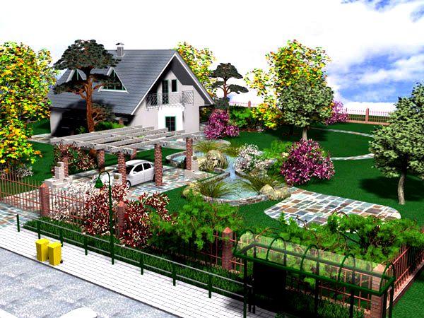 Дизайн участка загородного дома 10 соток