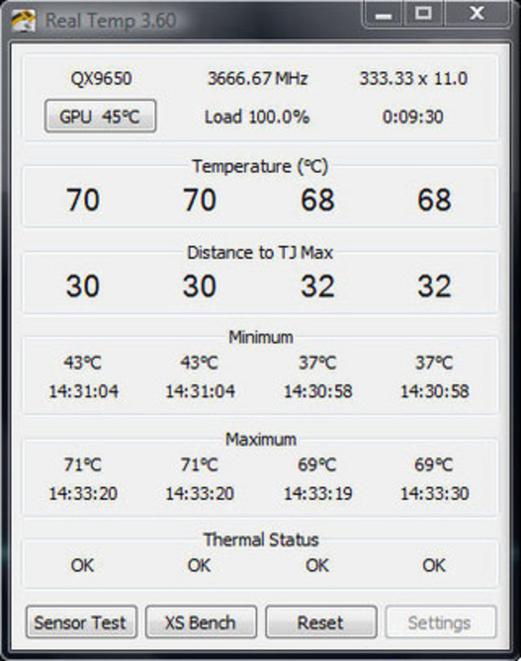 Как заменить кулер, программа для определения температуры процессора Real Temp.